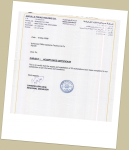 CERTIFICATES, Buy From Advanced Office Factory